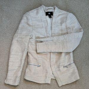 Shimmer cream blazer